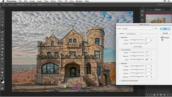 Using the HDR Toning filter: Digital Painting: Architecture