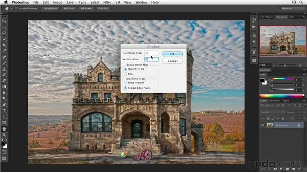 Using the Displacement filter to add imperfections: Digital Painting: Architecture
