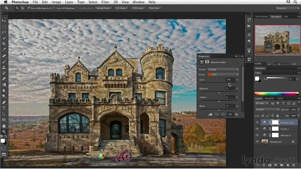 Making tonal and color corrections: Digital Painting: Architecture