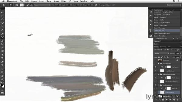 Setting up the Mixer Brush cloning action: Digital Painting: Architecture