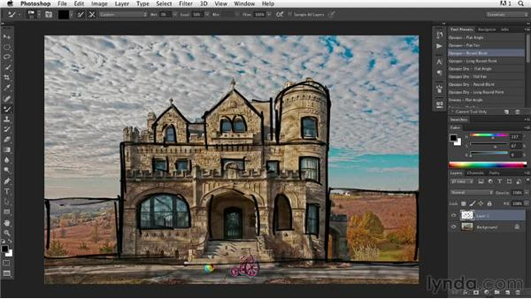 Establishing compositional structure: Digital Painting: Architecture