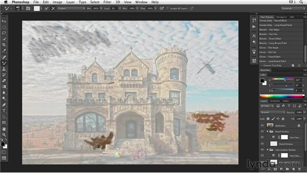 Determining a style and sticking to it: Digital Painting: Architecture