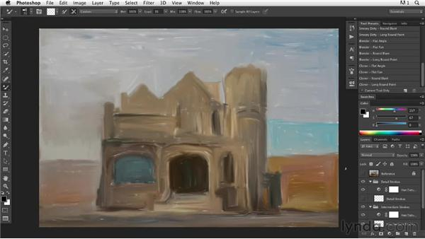 Painting in progress: Finishing the underpainting layer: Digital Painting: Architecture