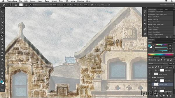 Painting in progress: Introducing texture to the intermediate layer: Digital Painting: Architecture