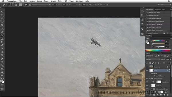 Adding surface texture effects: Digital Painting: Architecture