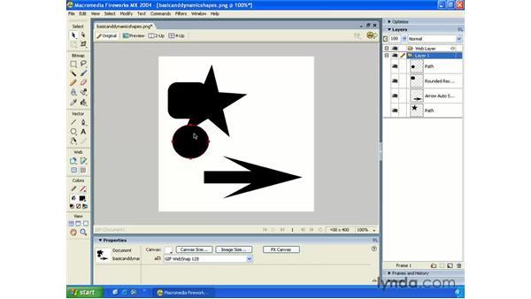 basic shapes: Fireworks MX 2004 Essential Training