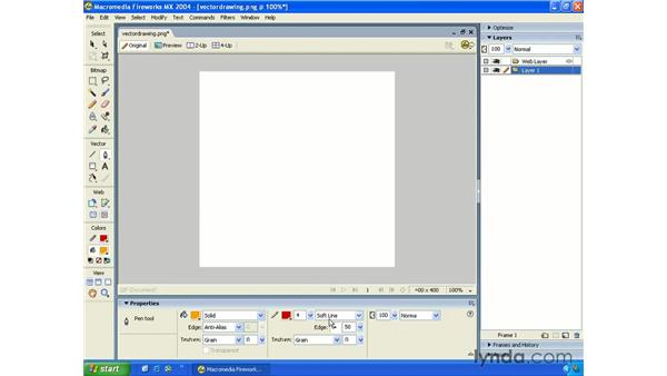 vector drawing: Fireworks MX 2004 Essential Training