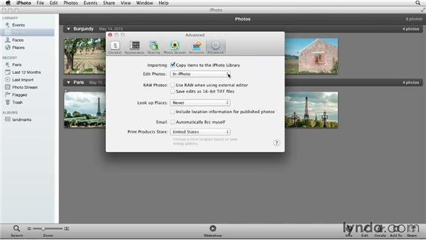 Importing photos from iPhoto (Mac only): Photoshop Elements 11 Essentials: 01 Importing and Organizing Photos