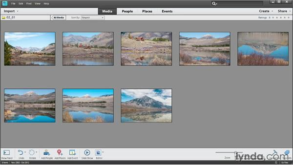 Viewing photos: Photoshop Elements 11 Essentials: 01 Importing and Organizing Photos