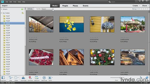 Sorting photos: Photoshop Elements 11 Essentials: 01 Importing and Organizing Photos