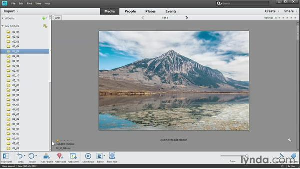 Rating photos: Photoshop Elements 11 Essentials: 01 Importing and Organizing Photos