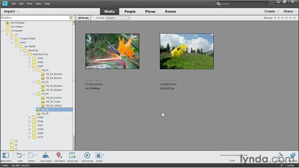 Deleting files and folders: Photoshop Elements 11 Essentials: 01 Importing and Organizing Photos