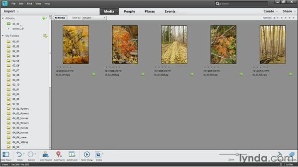 Making instant albums from folders: Photoshop Elements 11 Essentials: 01 Importing and Organizing Photos