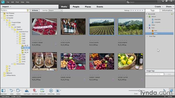 Applying keyword tags: Photoshop Elements 11 Essentials: 01 Importing and Organizing Photos
