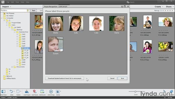 Identifying people automatically: Photoshop Elements 11 Essentials: 01 Importing and Organizing Photos