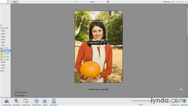 Identifying people manually: Photoshop Elements 11 Essentials: 01 Importing and Organizing Photos