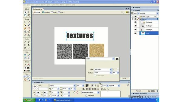 fill textures: Fireworks MX 2004 Essential Training
