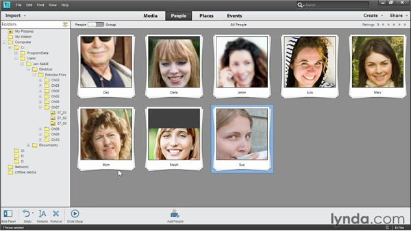 Viewing people: Photoshop Elements 11 Essentials: 01 Importing and Organizing Photos