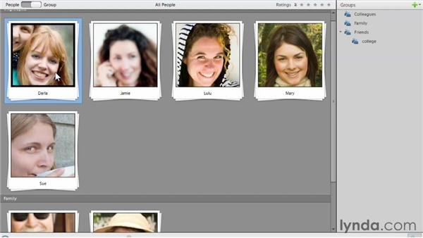 Grouping people: Photoshop Elements 11 Essentials: 01 Importing and Organizing Photos