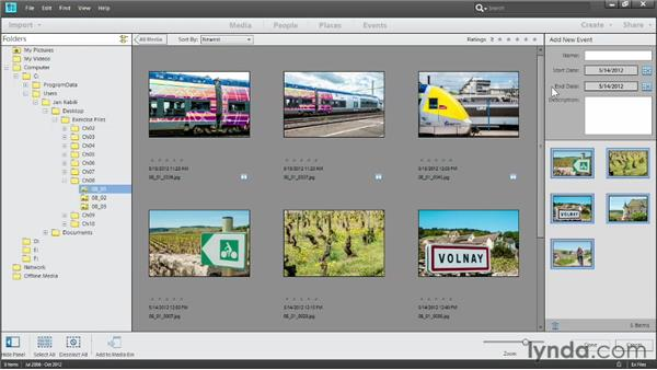 Creating events manually: Photoshop Elements 11 Essentials: 01 Importing and Organizing Photos