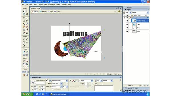 fill patterns: Fireworks MX 2004 Essential Training