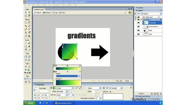 fill gradients: Fireworks MX 2004 Essential Training