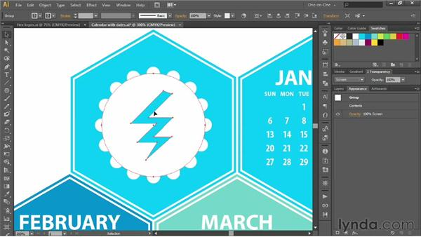 187 Branding your calendar with a field of logos: Deke's Techniques