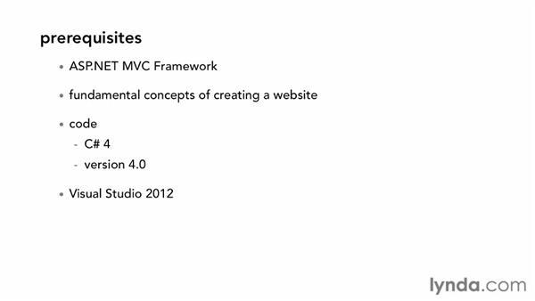 Prerequisites: ASP.NET MVC 4 Essential Training