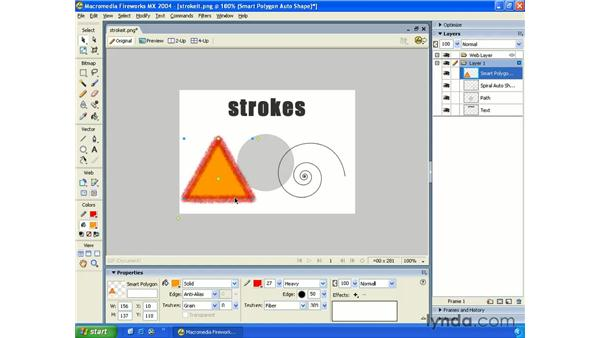 stroke settings: Fireworks MX 2004 Essential Training