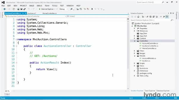 Executing controller logic: ASP.NET MVC 4 Essential Training