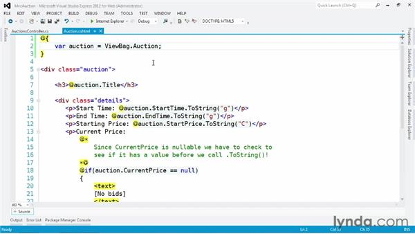 Interacting with models and ViewData: ASP.NET MVC 4 Essential Training