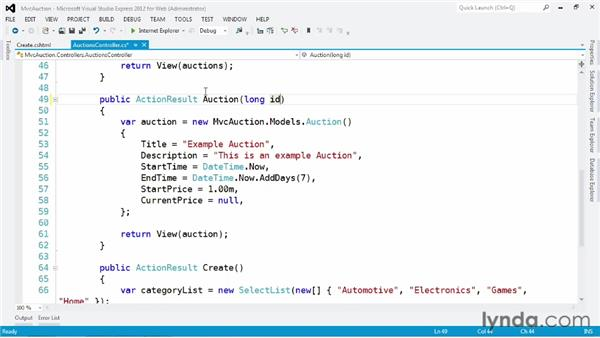 Automatically binding to data in the request: ASP.NET MVC 4 Essential Training