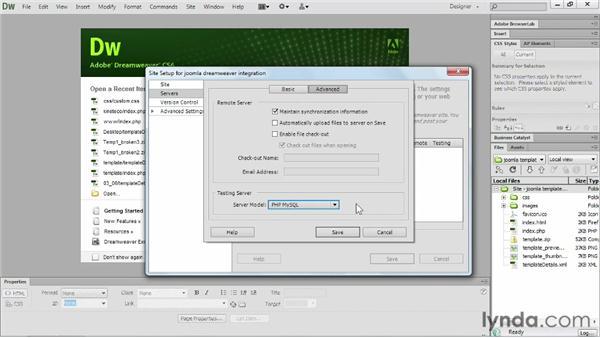 Dreamweaver CS6 and Joomla!: Setup: Templating with Joomla! 3 and Bootstrap