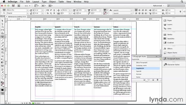 Working with language dictionaries: Multilingual Publishing Strategies with InDesign