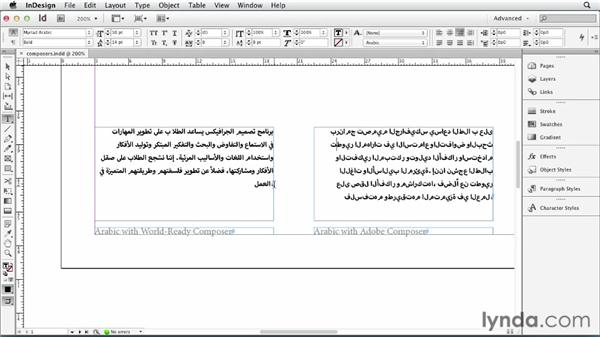 Using composers and composition rules: Multilingual Publishing Strategies with InDesign
