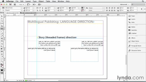 Changing language direction: Multilingual Publishing Strategies with InDesign