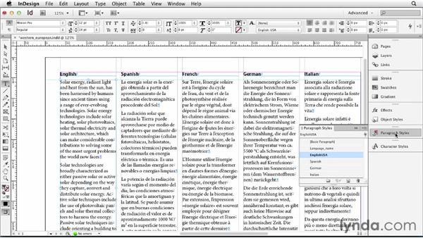 Typesetting Western European languages: Multilingual Publishing Strategies with InDesign