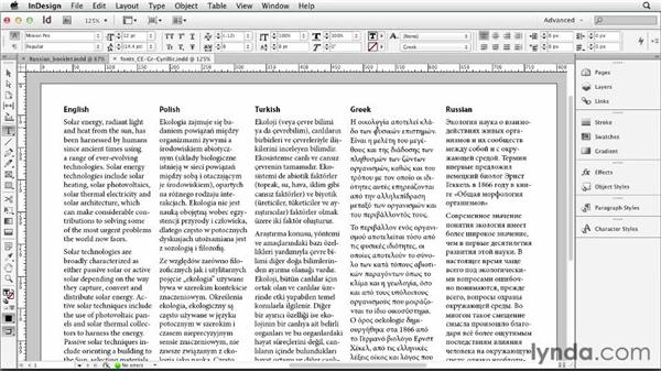 Typesetting Central European, Cyrillic, and Greek languages: Multilingual Publishing Strategies with InDesign