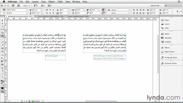 Typesetting Middle Eastern (ME) languages: Multilingual Publishing Strategies with InDesign