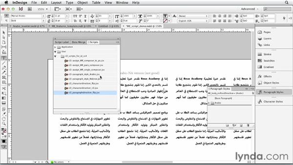 Scripts and templates for ME languages: Multilingual Publishing Strategies with InDesign