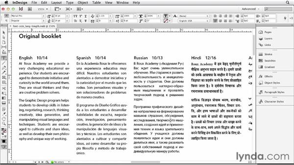 Choosing fonts and examining other design considerations: Multilingual Publishing Strategies with InDesign