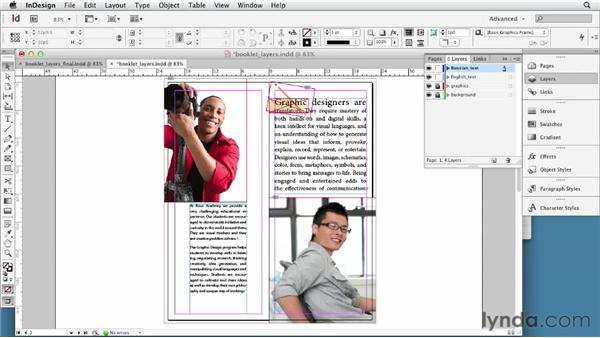 Working with multiple languages in one file using layers: Multilingual Publishing Strategies with InDesign