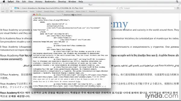 HTML export: Multilingual Publishing Strategies with InDesign