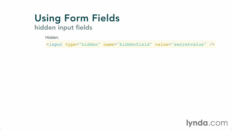 Working with form fields