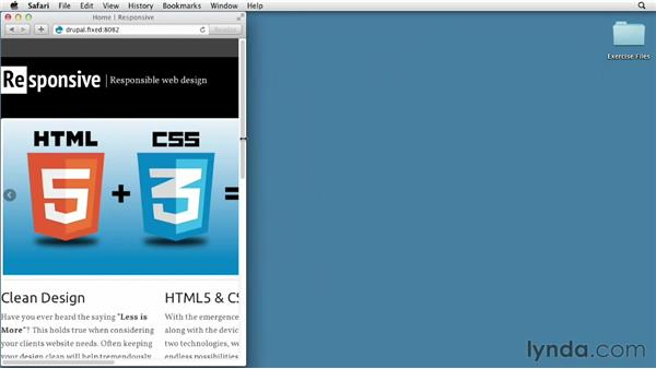 Exploring the finished project: Responsive Design with Drupal