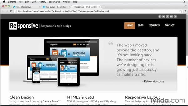 Discovering fluid layouts: Responsive Design with Drupal