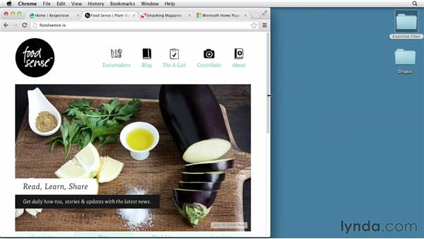 Introduction to responsive menus: Responsive Design with Drupal