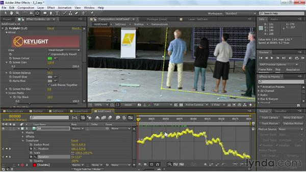 Motion tracking greenscreen: VFX Techniques: Crowd Replication with After Effects