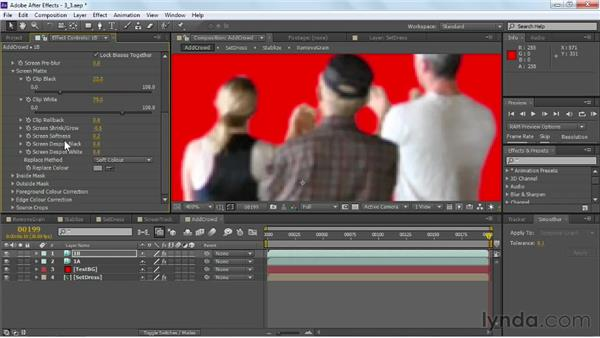 Applying tracks to multiple layers: VFX Techniques: Crowd Replication with After Effects