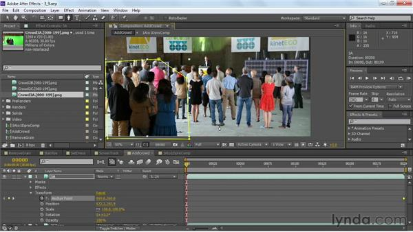 Applying matte tools: VFX Techniques: Crowd Replication with After Effects